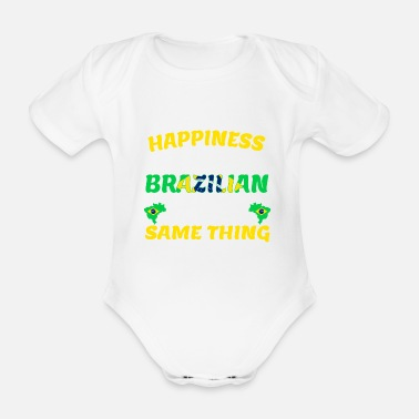 Love Brazil - Marry a Brazilian - Organic Short-Sleeved Baby Bodysuit