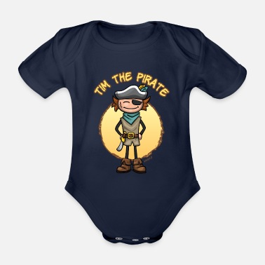 Pitus Tim the pirate - Body Bébé bio manches courtes