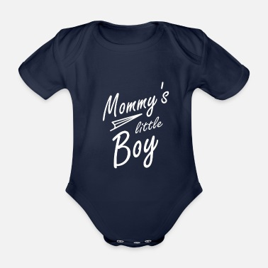 Mommys Little Baby Boy - Organic Short-Sleeved Baby Bodysuit