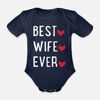 Wife wife - Organic Short-Sleeved Baby Bodysuit