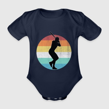Sports baseball - Organic Short-sleeved Baby Bodysuit