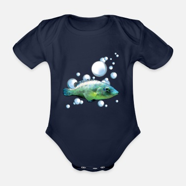 Under Water Under water - Organic Short-Sleeved Baby Bodysuit