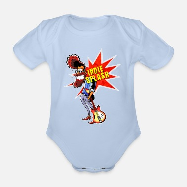 Indie Indie Splash - Organic Short-Sleeved Baby Bodysuit