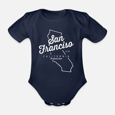 San Francisco San Francisco Californie - Body bébé bio manches courtes