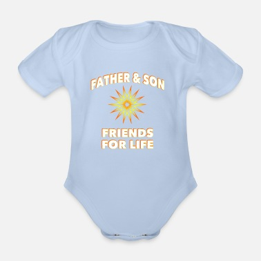 Father Father & son - Organic Short-Sleeved Baby Bodysuit