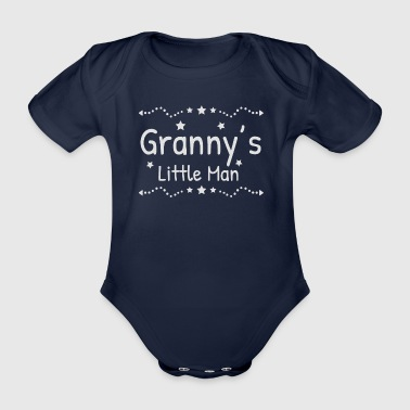 Granny's little man granny grandma grandmother's gift - Organic Short-sleeved Baby Bodysuit