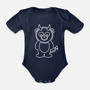Devil Devil Panda - Organic Short-Sleeved Baby Bodysuit