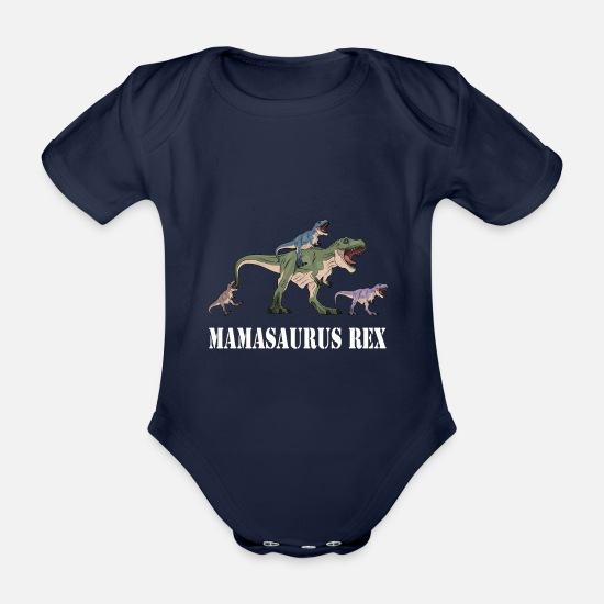 Love Baby Clothes - Mom Parents Mother's Day Gift · Mamasaurus - Organic Short-Sleeved Baby Bodysuit dark navy