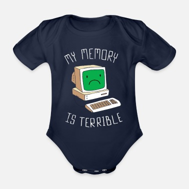 Pc PC computer - Organic Short-Sleeved Baby Bodysuit
