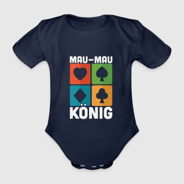 Son Mau Mau King Playing Cards Card Game Gift - Organic Short-sleeved Baby Bodysuit