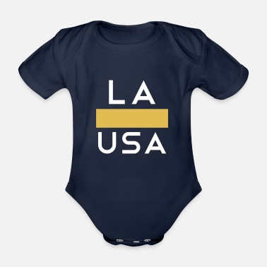 San Francisco LA Los Angeles USA Or Blanc - Body bébé bio manches courtes