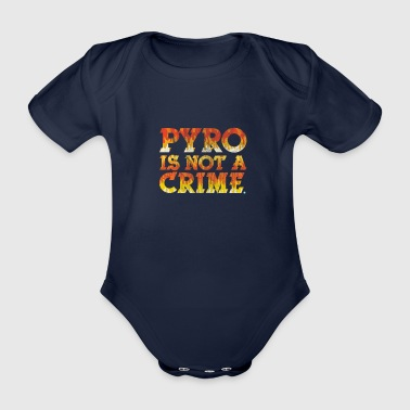 Verbod Pyro is geen Crime Ultra Gift Football - Baby bio-rompertje met korte mouwen