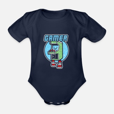 Gaming Gamer Gaming Gamer Gaming Gamer Gaming Game - Baby Bio Kurzarmbody