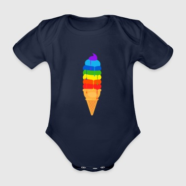 Alien Ice Cream Graphic - Baby Bio-Kurzarm-Body