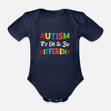 Aspergers Autism Unicorn Autism Awareness Vintage - Organic Short-sleeved Baby Bodysuit