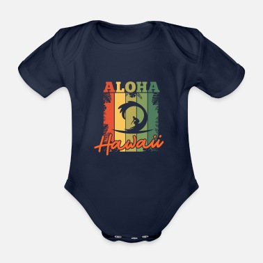 Honolulu Hawaii - Organic Short-sleeved Baby Bodysuit