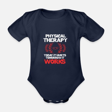 Physio Physiotherapy Physiotherapist Physio Gift - Organic Short-sleeved Baby Bodysuit
