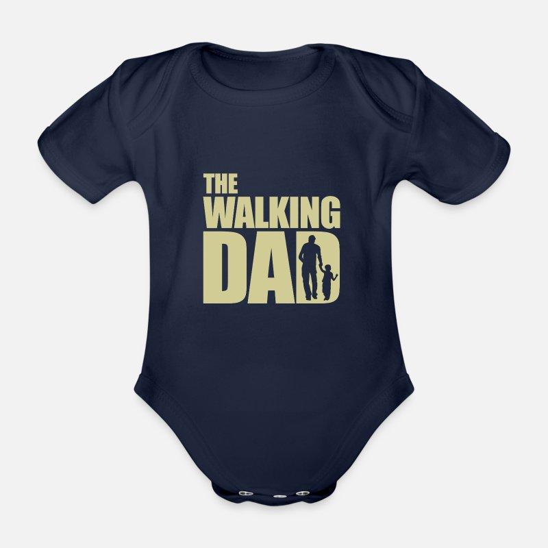 The Walking Dad Vater Vatertag Geschenk Baby Bio Kurzarm Body Dunkelnavy