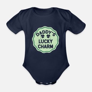Leprechaun Daddy's Lucky Charm St Patrick's Day St Pattys Day - Baby bio-rompertje met korte mouwen