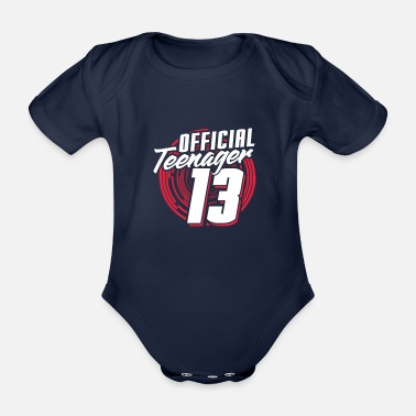 Teenager teenager - Organic Short-sleeved Baby Bodysuit