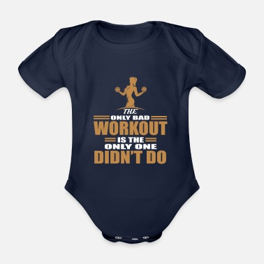 Muscle Body building - Organic Short-sleeved Baby Bodysuit