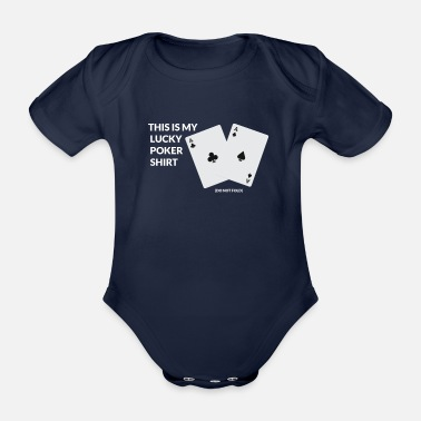 Las Vegas Poker Casino Las Vegas Card Game All in Retro - Organic Short-sleeved Baby Bodysuit