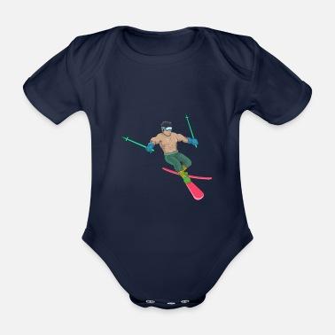 Lunettes De Ski Cadeau ski ski skieur ski maillot - Body bébé bio manches  courtes 73c26db21095