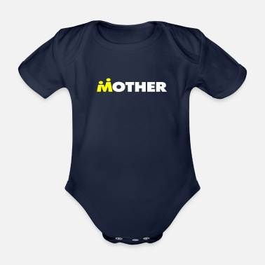 I love my mother's gift Mother's Day - Organic Short-Sleeved Baby Bodysuit