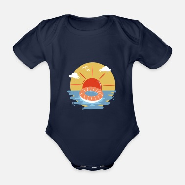 Coast On the coast - Organic Short-Sleeved Baby Bodysuit