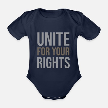 Suppression Unite for your rights - Organic Short-Sleeved Baby Bodysuit