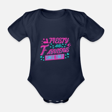 King birth gift 1987 crown gift - Organic Short-Sleeved Baby Bodysuit