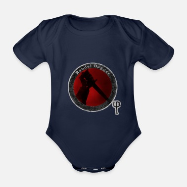 Rondel Dagger White Surround - Organic Short-Sleeved Baby Bodysuit