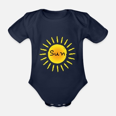 Light Sun sun - Organic Short-Sleeved Baby Bodysuit