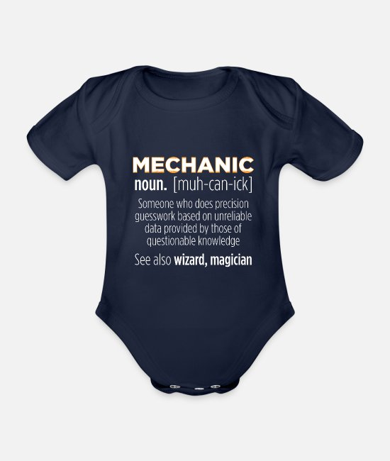 Industriemechaniker Baby Bodys - Mechanic - Definition Lustiger Spruch - Baby Bio Kurzarmbody Dunkelnavy