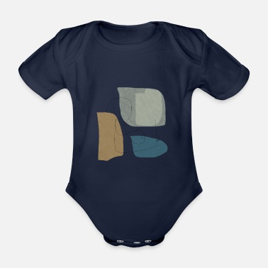 Shape Underwear Minimalistic abstract background N3 - Organic Short-Sleeved Baby Bodysuit