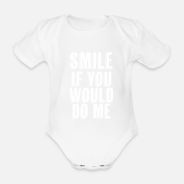Office Funny Sarcasm Adult Humor Smile - Organic Short-Sleeved Baby Bodysuit