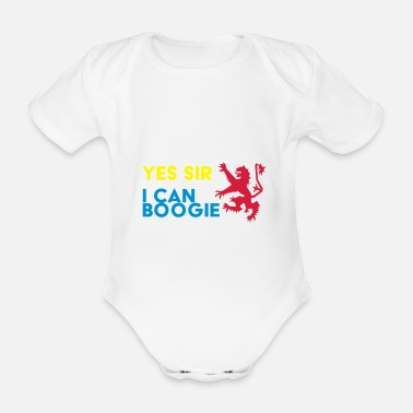 Sir Yes Sir, I Can Boogie - Organic Short-Sleeved Baby Bodysuit