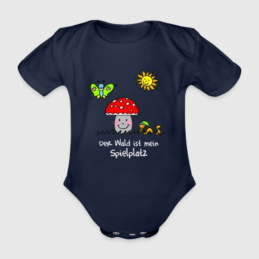 The forest is my playground - Organic Short-sleeved Baby Bodysuit