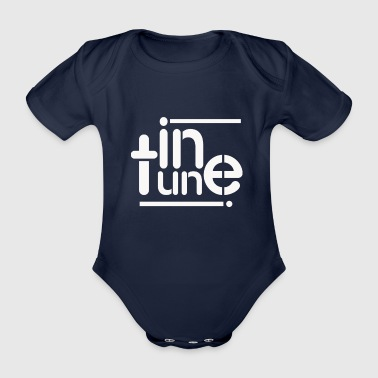 in tune - Organic Short-sleeved Baby Bodysuit