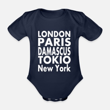 Damascus Damascus - Organic Short-Sleeved Baby Bodysuit