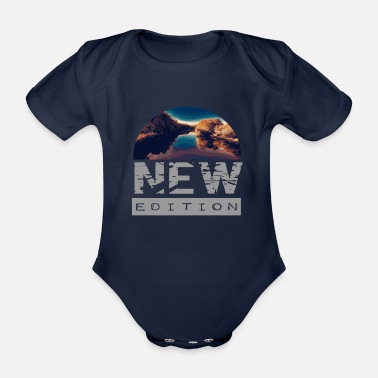 Line New Edition / Sayings / Trend - Organic Short-Sleeved Baby Bodysuit