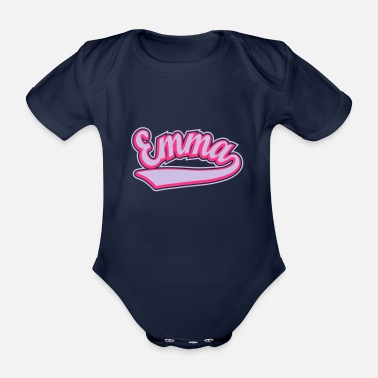 Personalise Emma - T-shirt Personalised with your name - Organic Short-Sleeved Baby Bodysuit