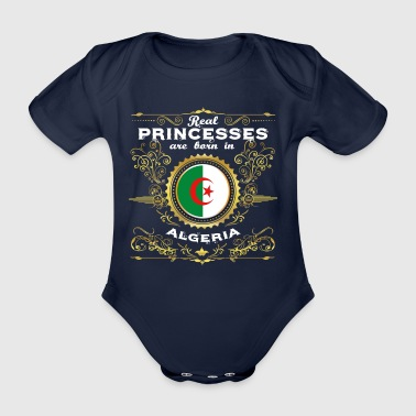 PRINCESS PRINCESS QUEEN BORN ALGERIA - Organic Short-sleeved Baby Bodysuit