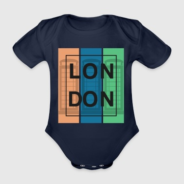 London England UK capital UK - Organic Short-sleeved Baby Bodysuit