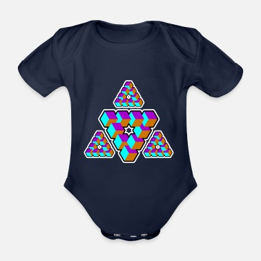Goa Geometry Triangle Illusion Goa Gift - Body ecologico per neonato a manica corta
