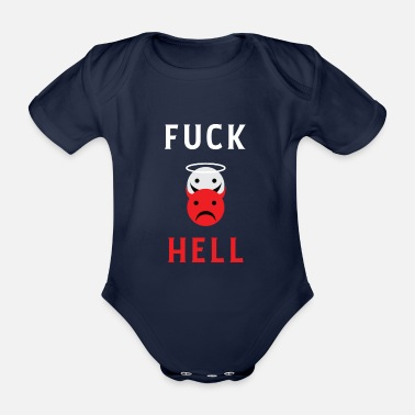 Hell Fuck Hell Smileys - To hell with hell! - Organic Short-sleeved Baby Bodysuit
