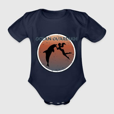 Sexy I love Dolphins Maori Ocean Mermaid - Organic Short-sleeved Baby Bodysuit
