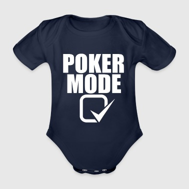 Casino Poker Fashion Poker Juego de cartas Casino Regalo - Body orgánico de maga corta para bebé