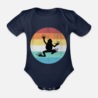 Prince Charming frog - Organic Short-sleeved Baby Bodysuit