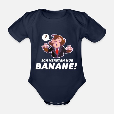 Moron monkey banana funny - Organic Short-sleeved Baby Bodysuit